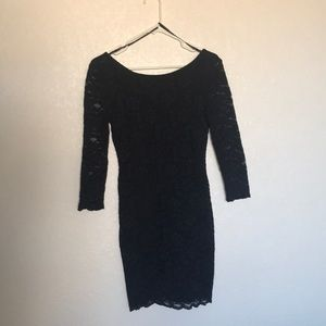Black lace forever 21 cocktail dress worn once